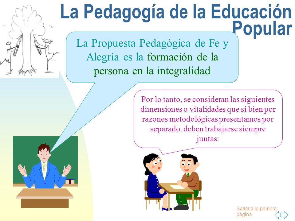 La Pedagogía de la Educación Popular