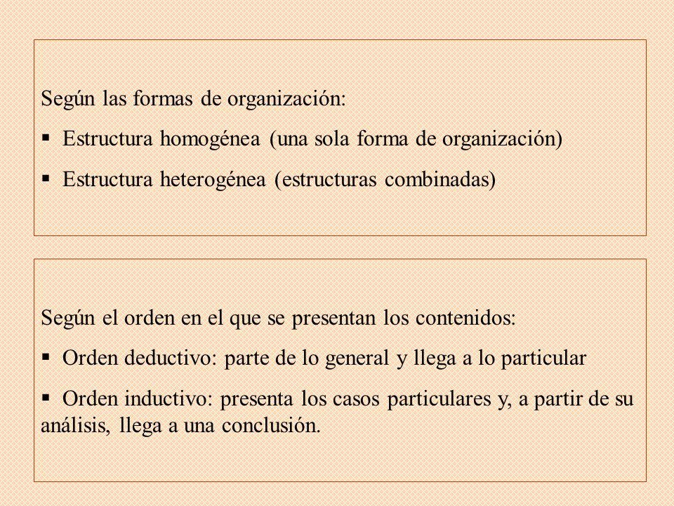 Según las formas de organización: