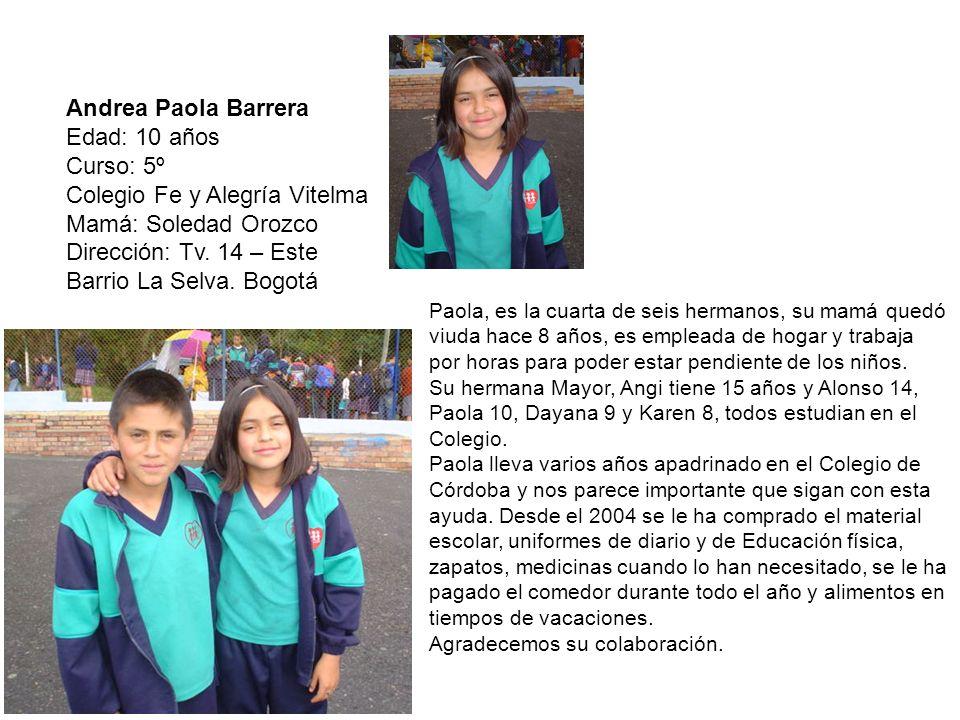 Colegio Fe y Alegría Vitelma Mamá: Soledad Orozco