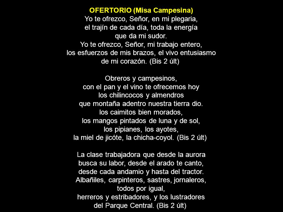 OFERTORIO (Misa Campesina)