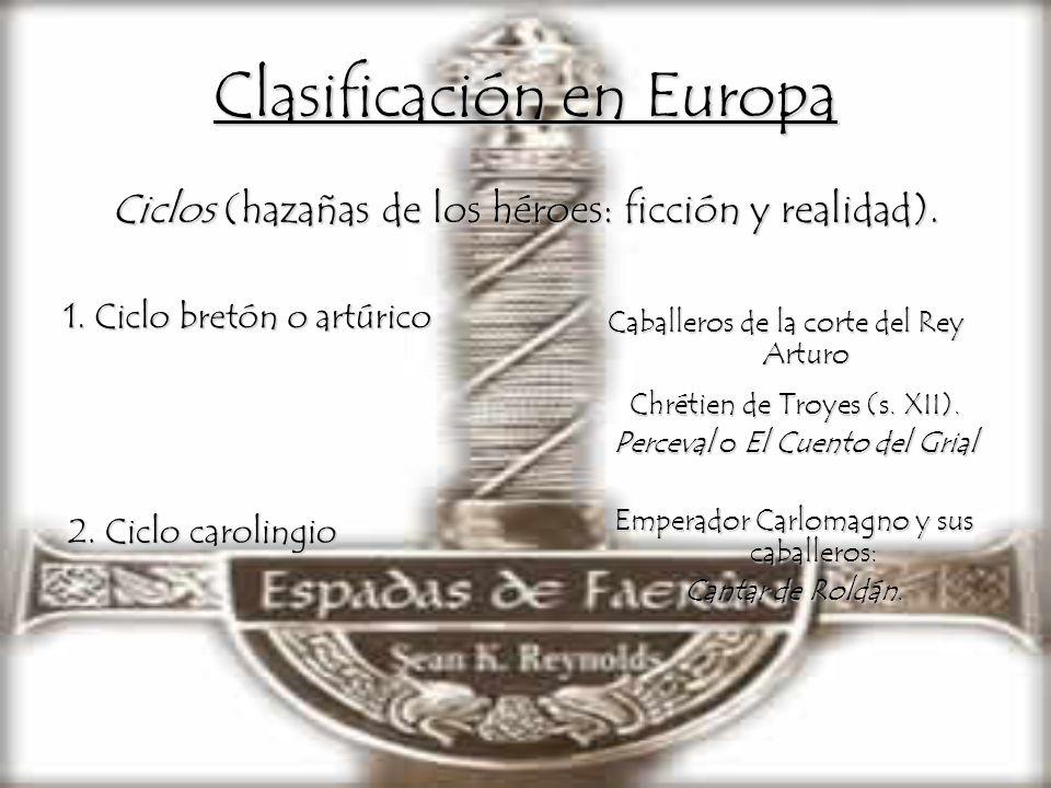 Clasificación en Europa