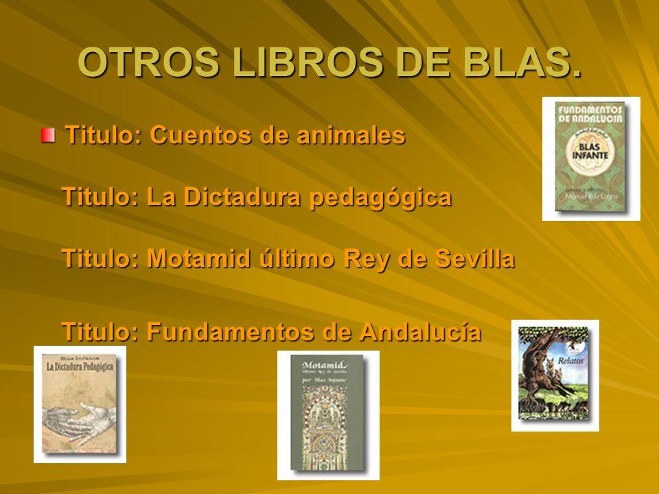 OTROS LIBROS DE BLAS. Titulo: Cuentos de animales