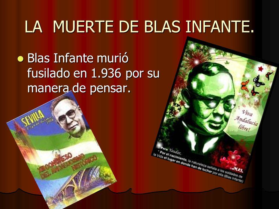 LA MUERTE DE BLAS INFANTE.