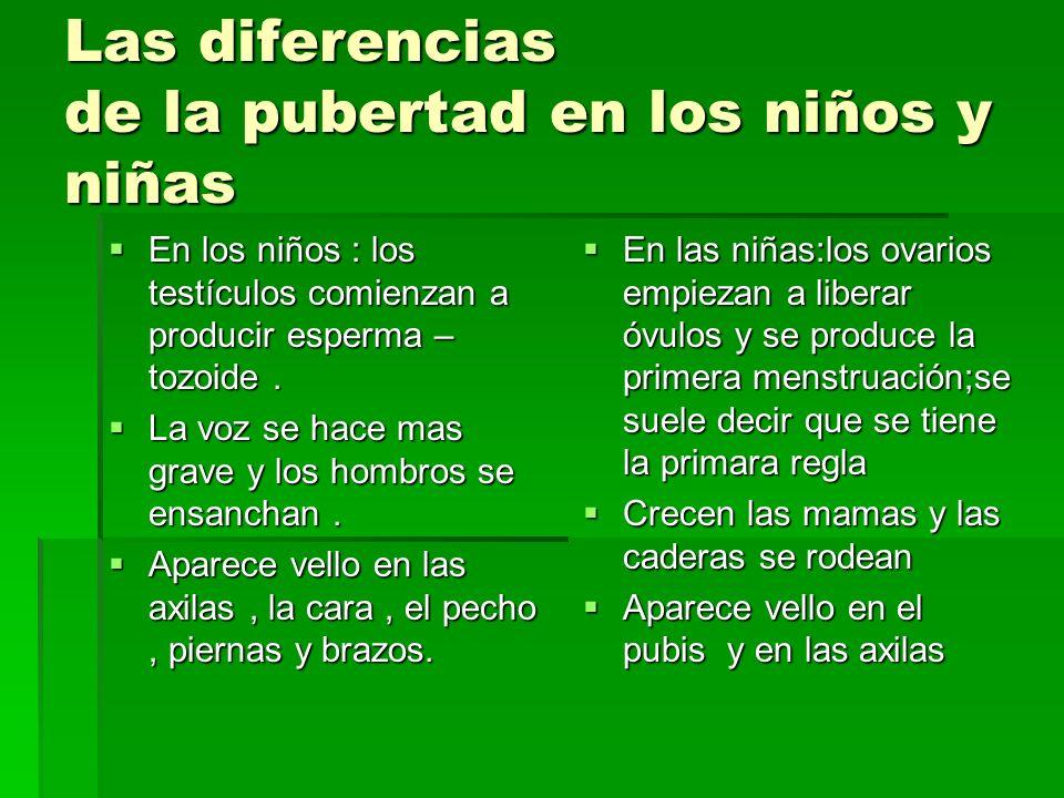 Las diferencias de la pubertad en los niños y niñas