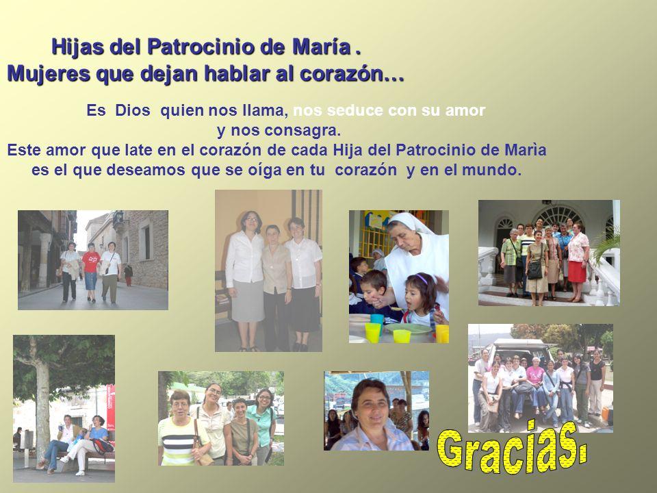 Gracias. Hijas del Patrocinio de María .