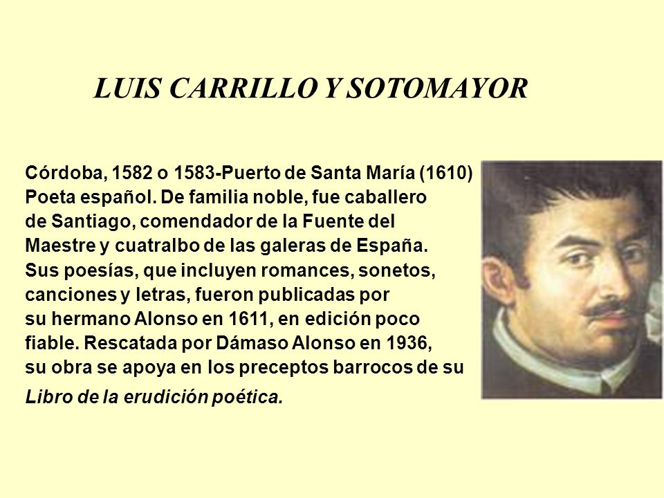 LUIS CARRILLO Y SOTOMAYOR