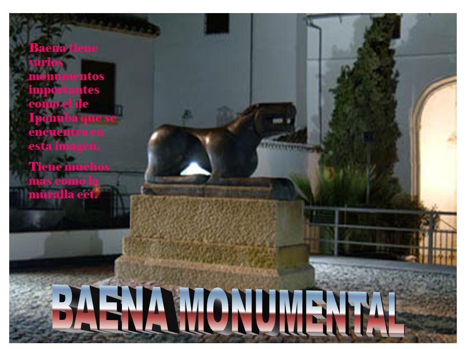 Baena tiene varios monumentos importantes como el de Iponuba que se encuentra en esta imagen.