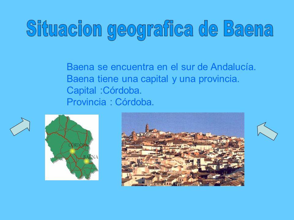 Situacion geografica de Baena