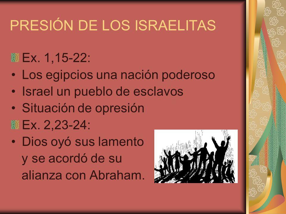 PRESIÓN DE LOS ISRAELITAS