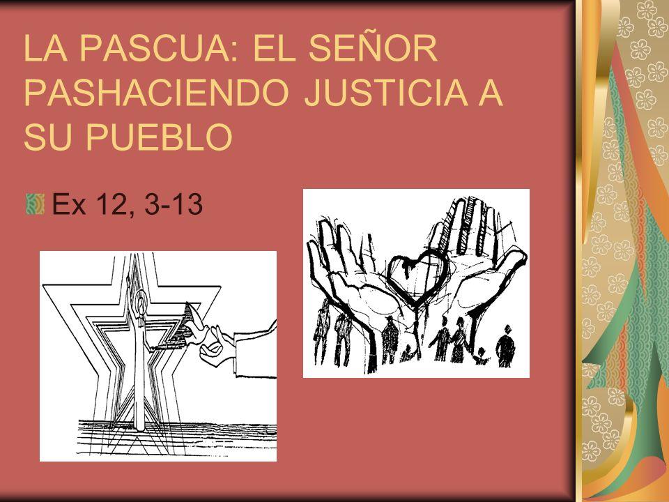 LA PASCUA: EL SEÑOR PASHACIENDO JUSTICIA A SU PUEBLO