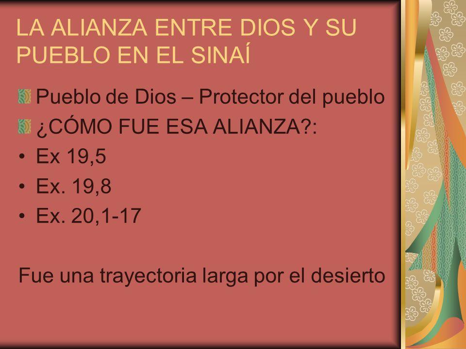 LA ALIANZA ENTRE DIOS Y SU PUEBLO EN EL SINAÍ