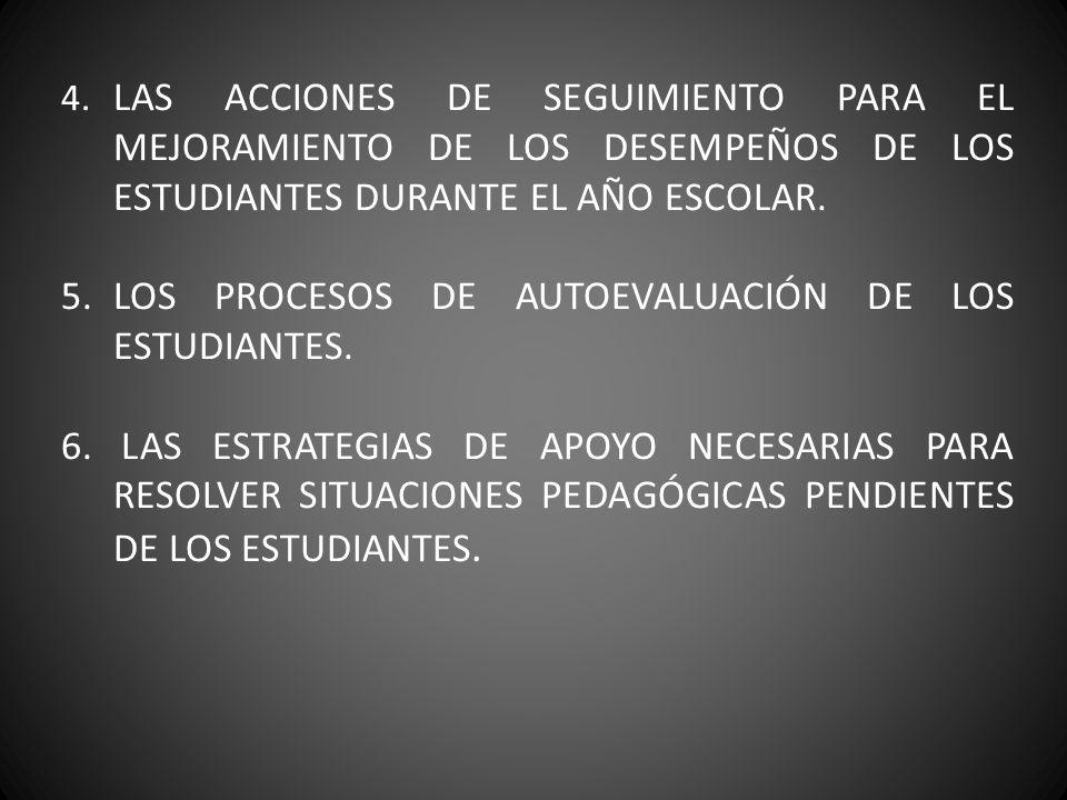 5. LOS PROCESOS DE AUTOEVALUACIÓN DE LOS ESTUDIANTES.