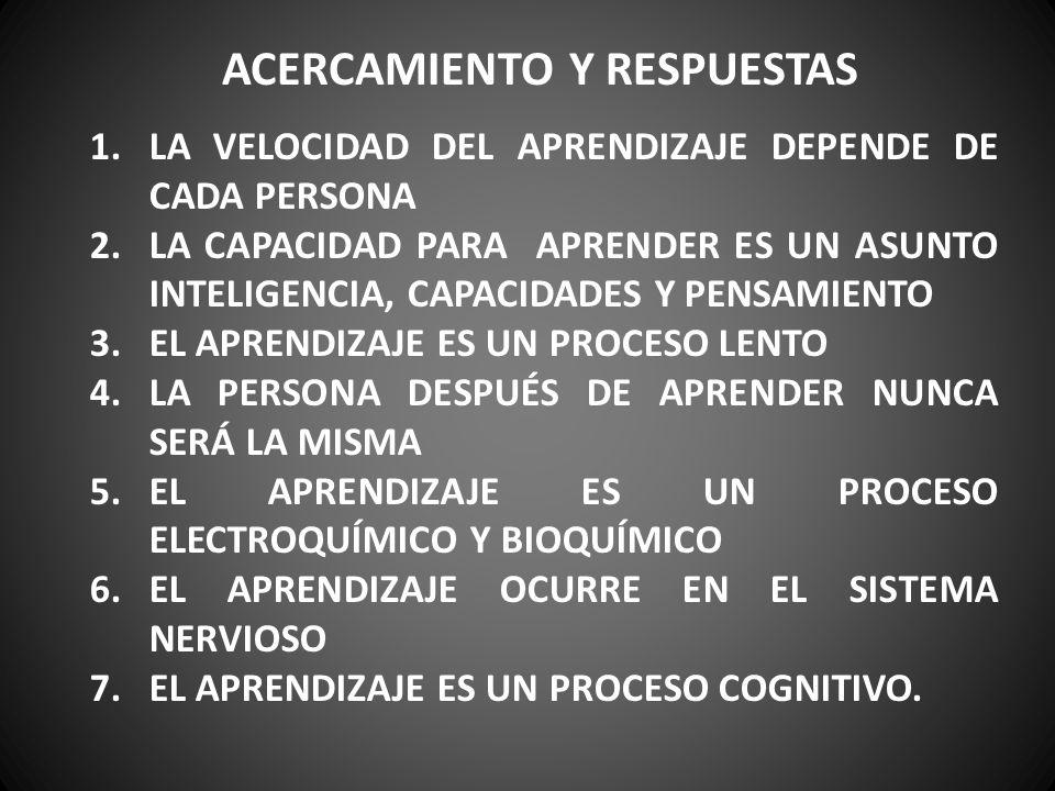 ACERCAMIENTO Y RESPUESTAS