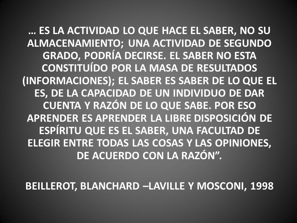 BEILLEROT, BLANCHARD –LAVILLE Y MOSCONI, 1998