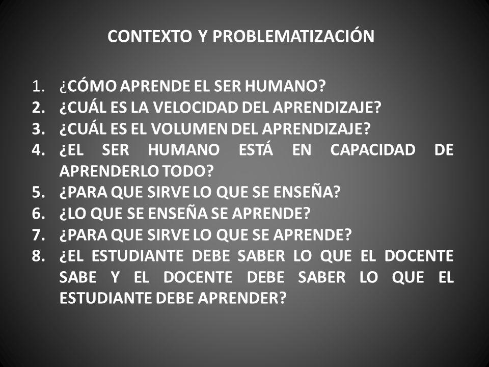 CONTEXTO Y PROBLEMATIZACIÓN