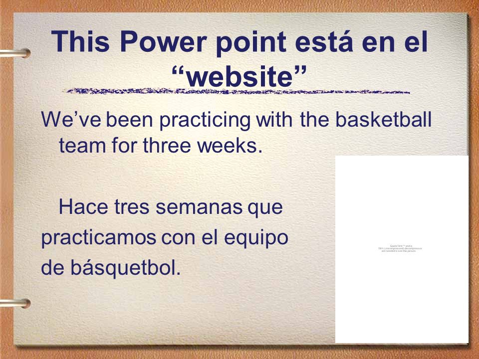 This Power point está en el website