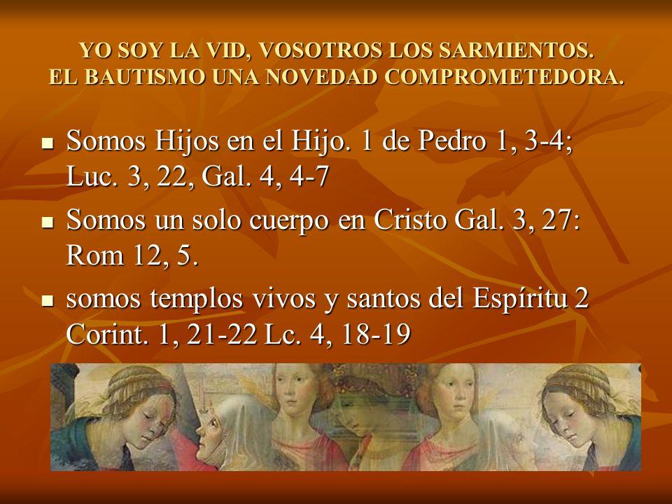 Somos Hijos en el Hijo. 1 de Pedro 1, 3-4; Luc. 3, 22, Gal. 4, 4-7