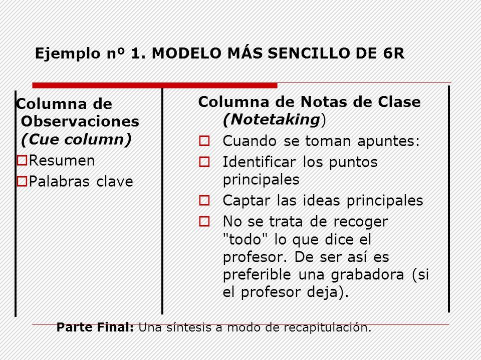Ejemplo nº 1. MODELO MÁS SENCILLO DE 6R