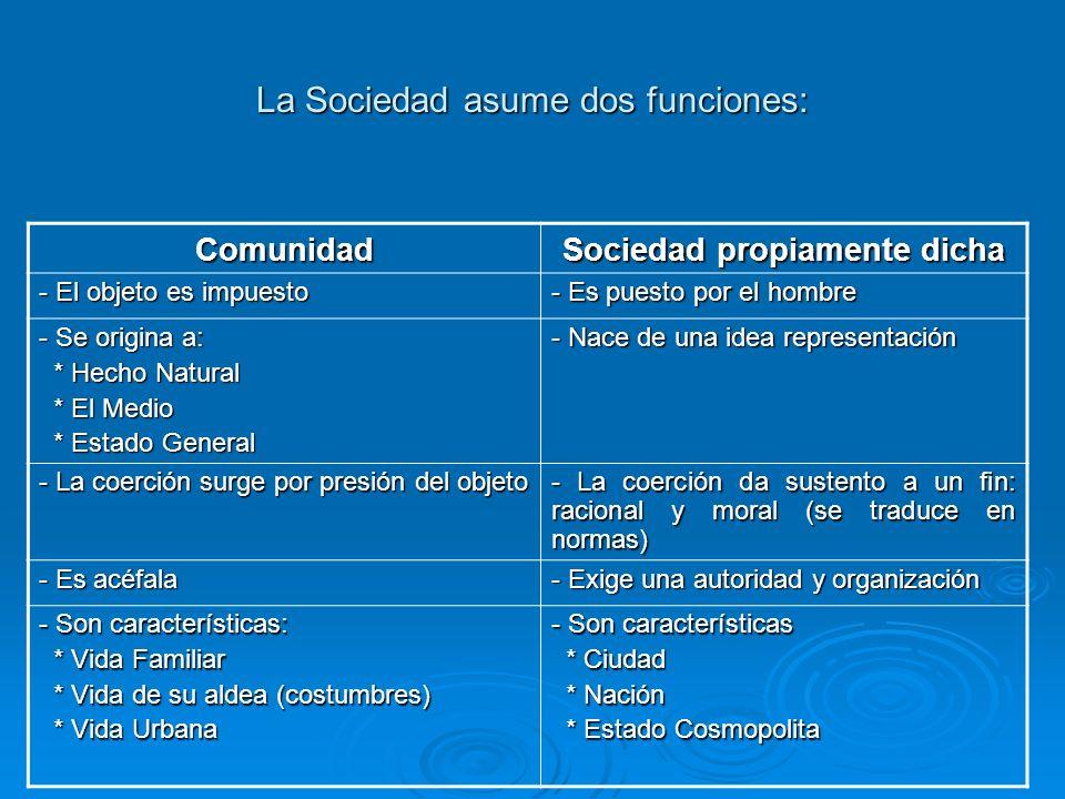 La Sociedad asume dos funciones: