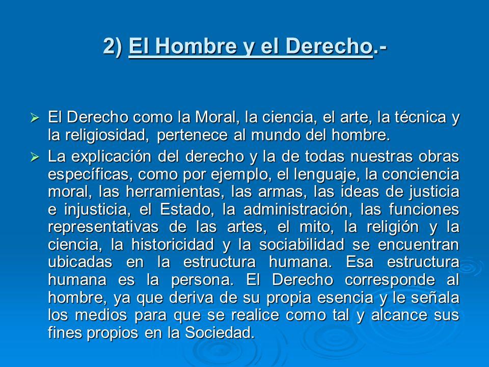 2) El Hombre y el Derecho.-