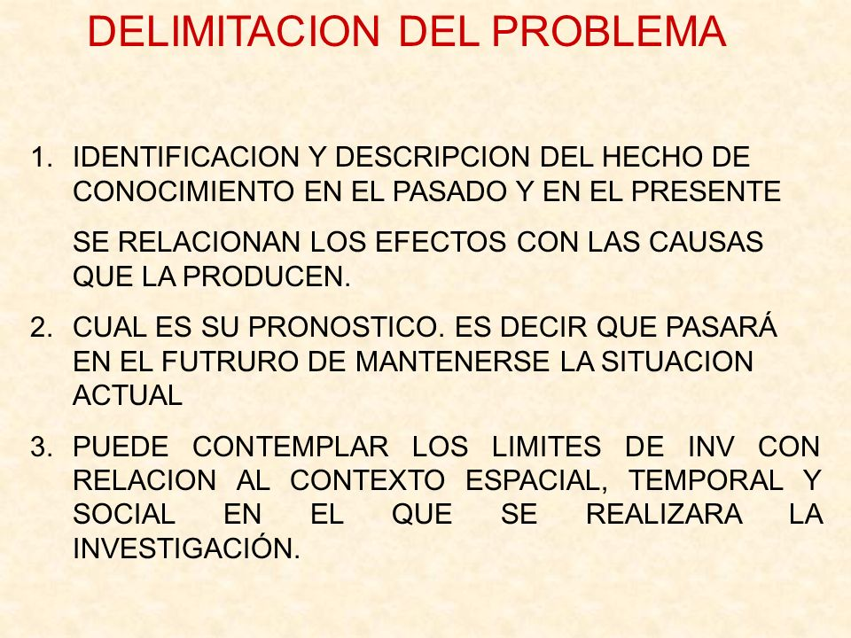 DELIMITACION DEL PROBLEMA