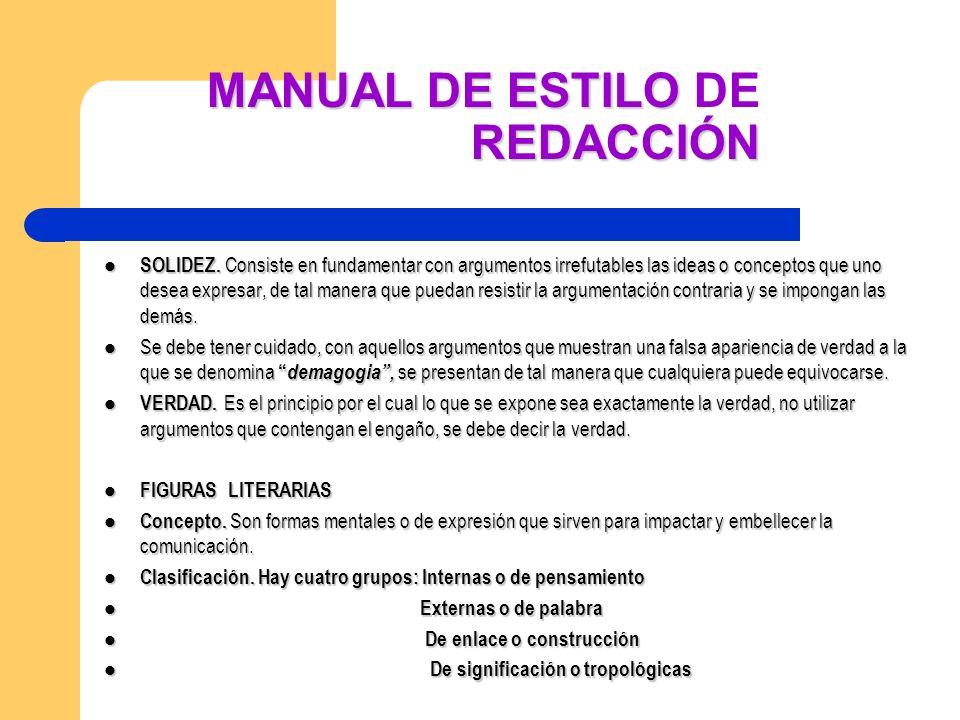 MANUAL DE ESTILO DE REDACCIÓN