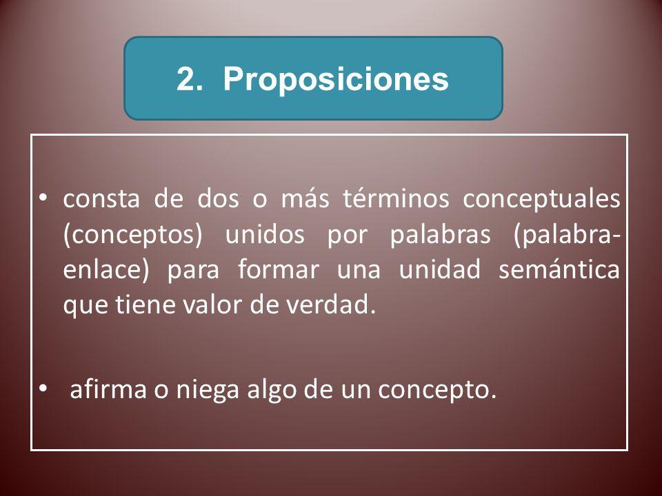 2. Proposiciones