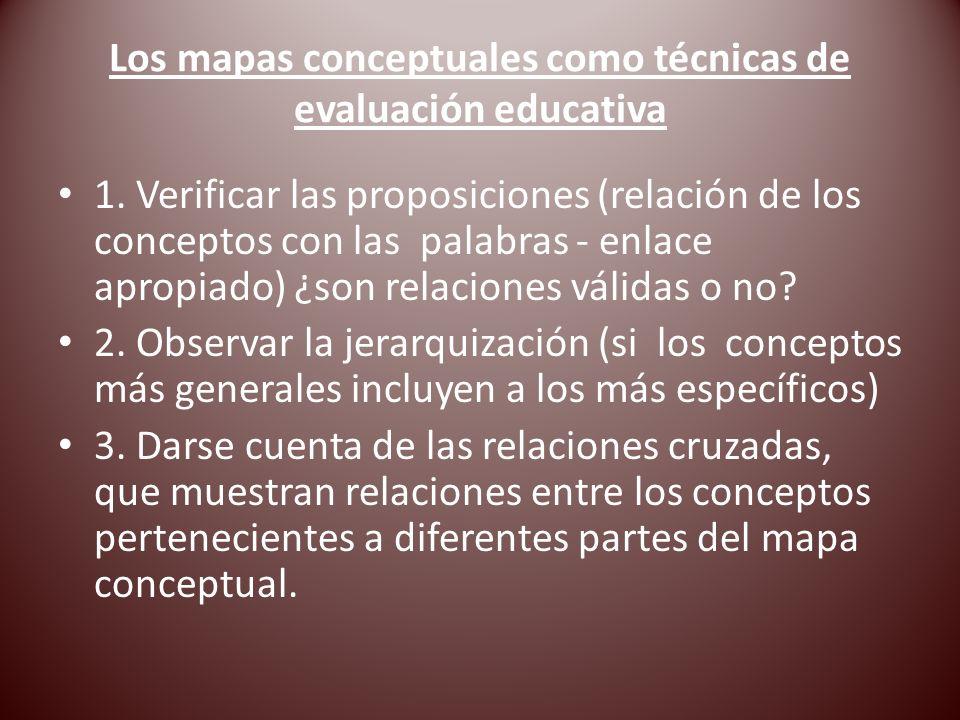 Los mapas conceptuales como técnicas de evaluación educativa