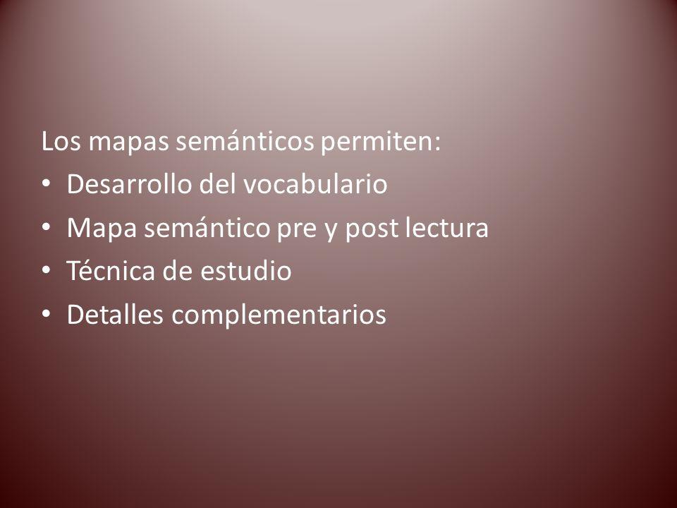Los mapas semánticos permiten: