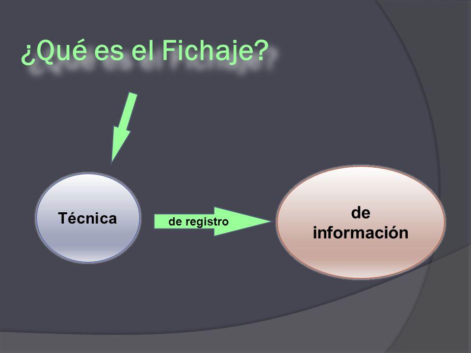 ¿Qué es el Fichaje de registro de información Técnica