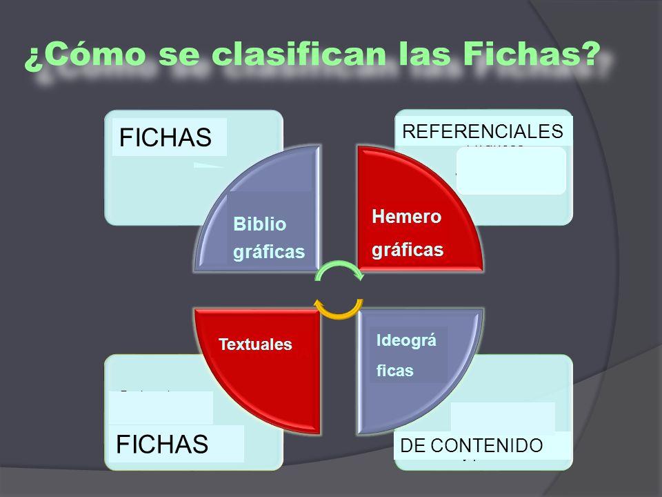 ¿Cómo se clasifican las Fichas