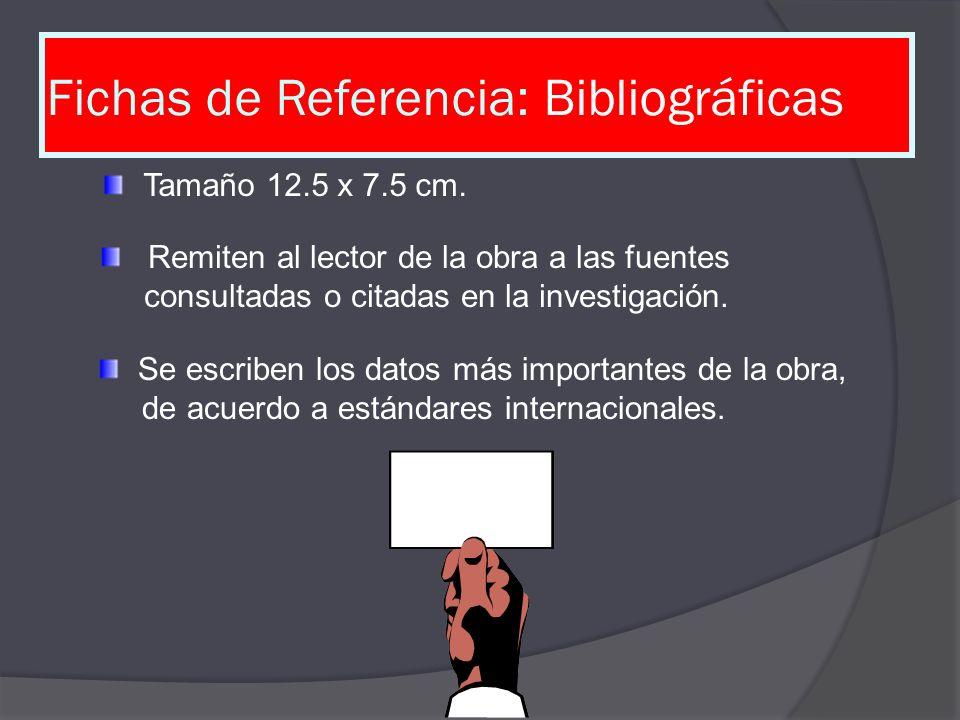 Fichas de Referencia: Bibliográficas