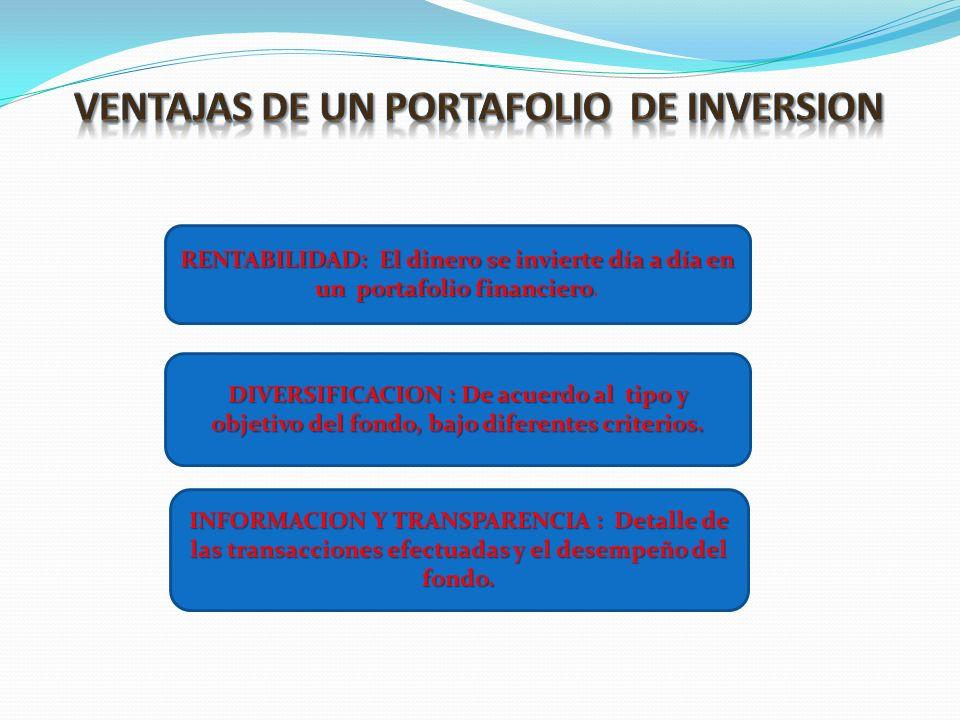 VENTAJAS DE UN PORTAFOLIO DE INVERSION