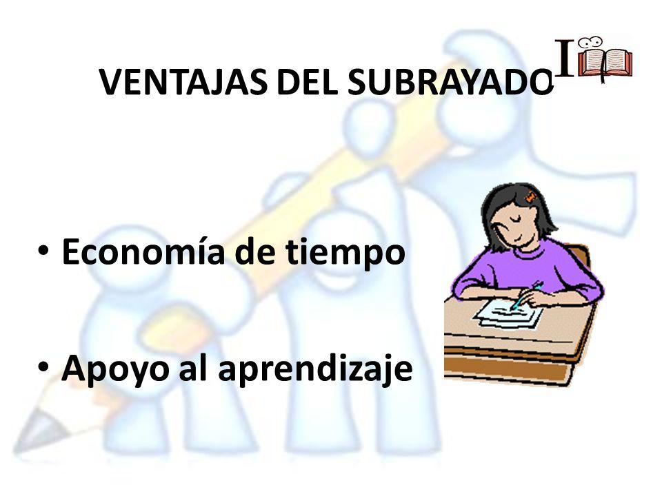 VENTAJAS DEL SUBRAYADO