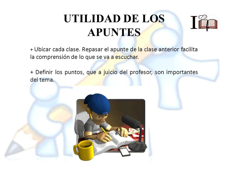 UTILIDAD DE LOS APUNTES