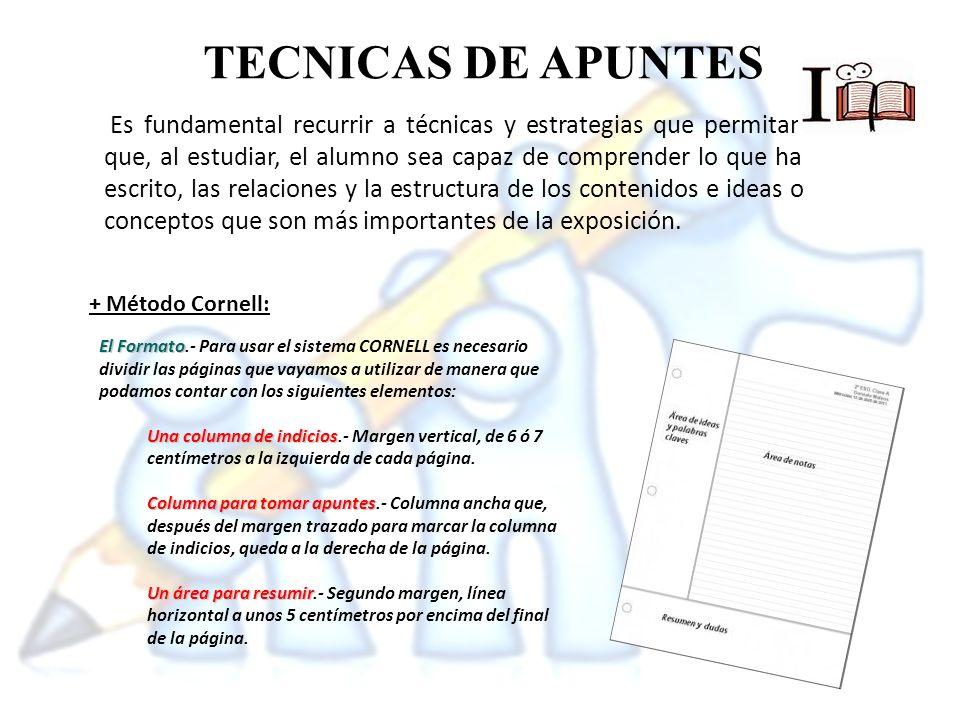 TECNICAS DE APUNTES