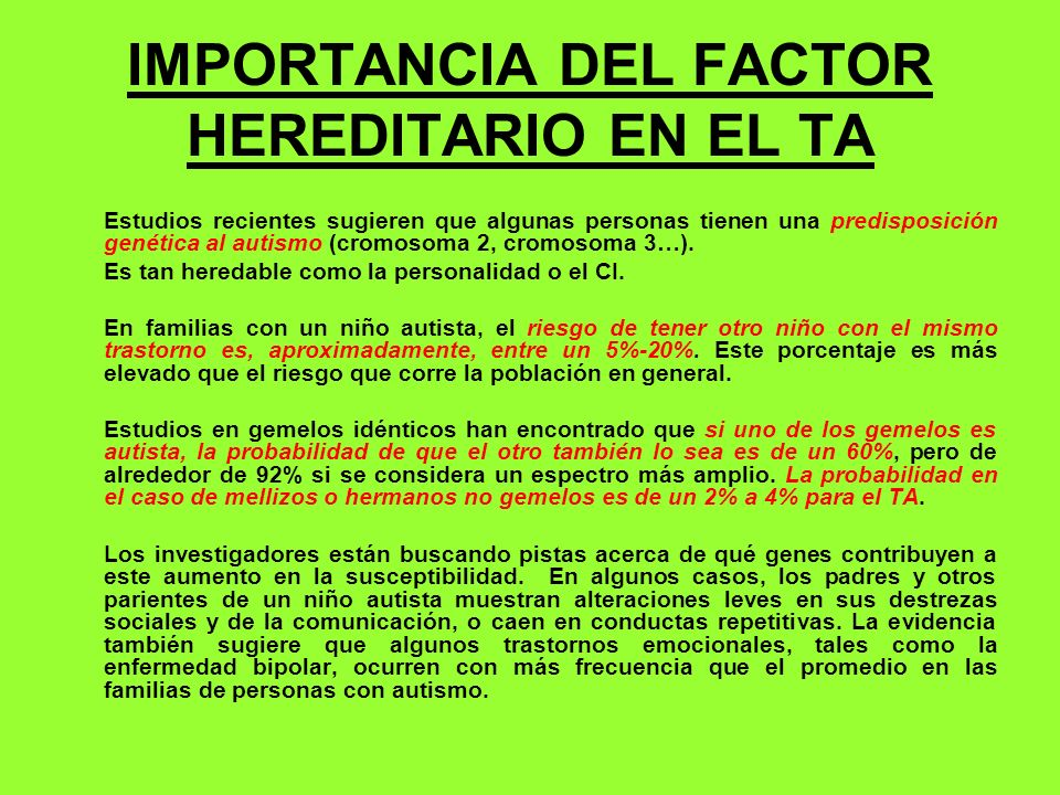 IMPORTANCIA DEL FACTOR HEREDITARIO EN EL TA