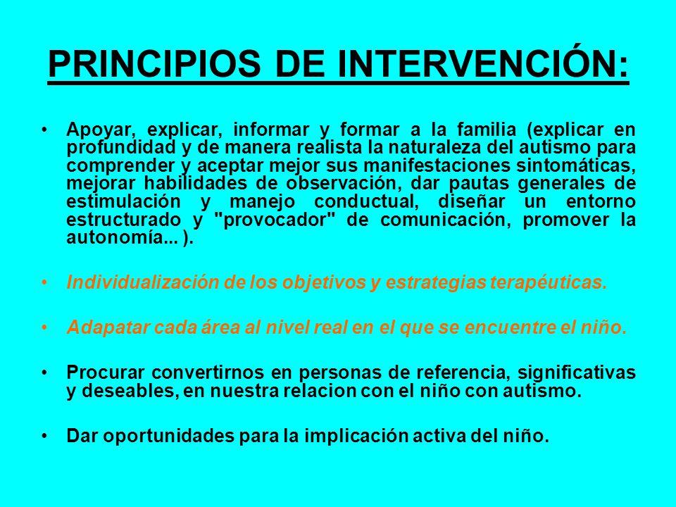 PRINCIPIOS DE INTERVENCIÓN: