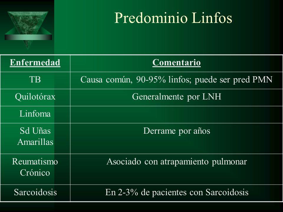 Predominio Linfos Enfermedad Comentario TB