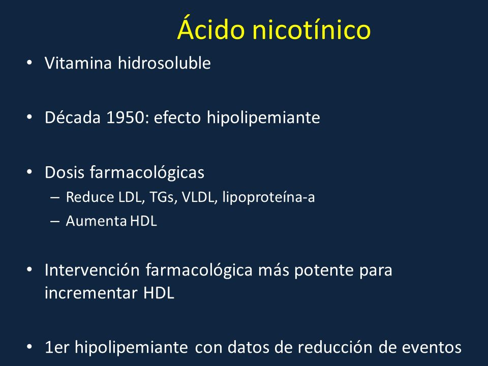 Ácido nicotínico Vitamina hidrosoluble