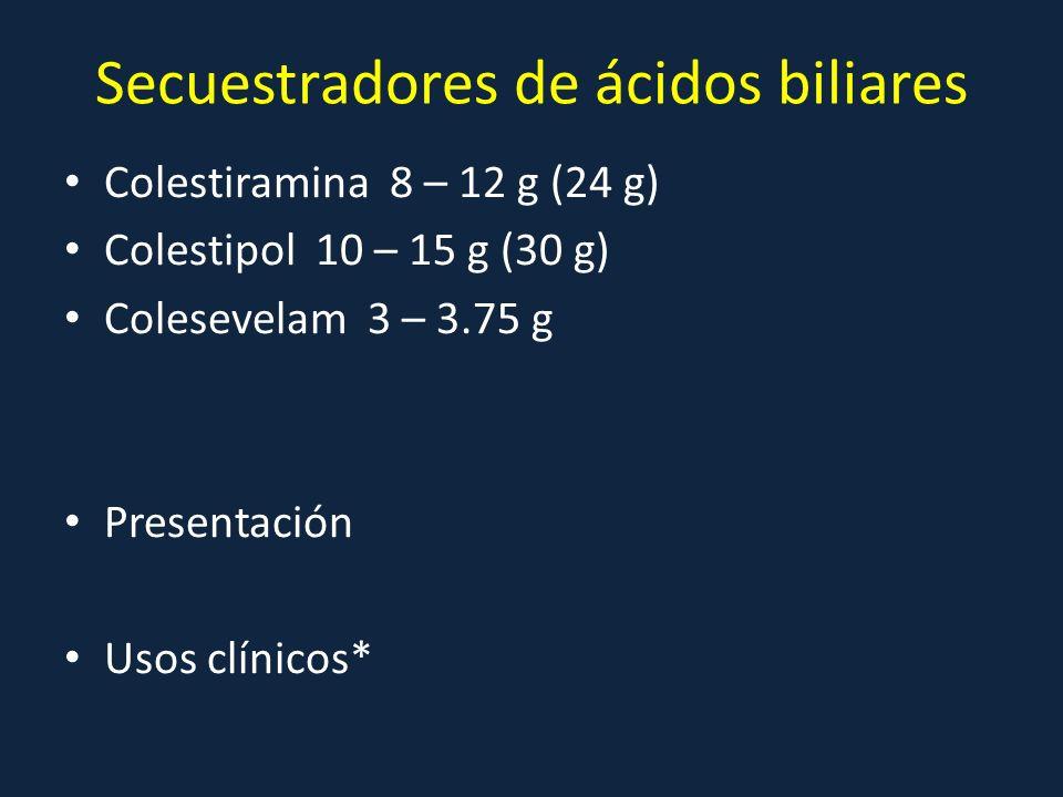 Secuestradores de ácidos biliares