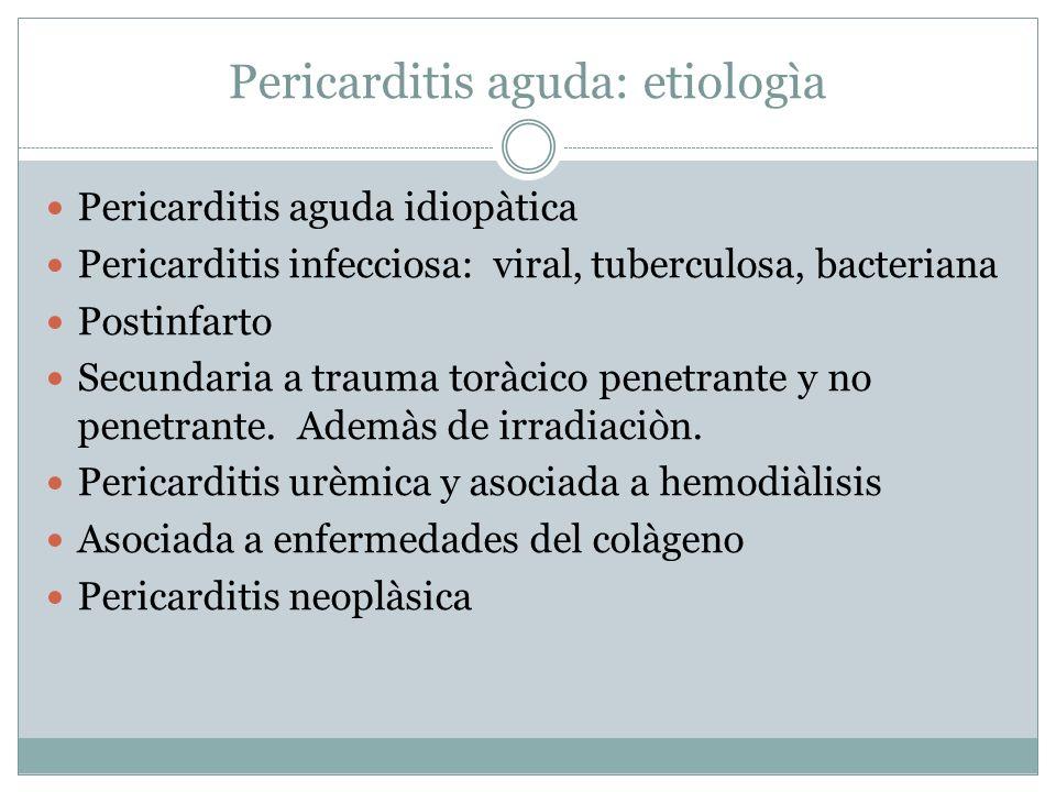 Pericarditis aguda: etiologìa