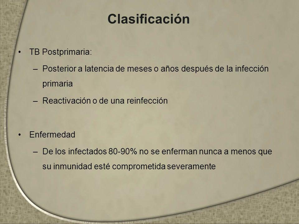 Clasificación TB Postprimaria: