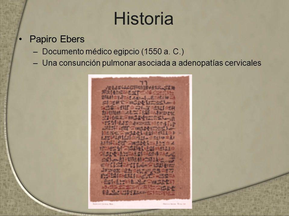 Historia Papiro Ebers Documento médico egipcio (1550 a. C.)