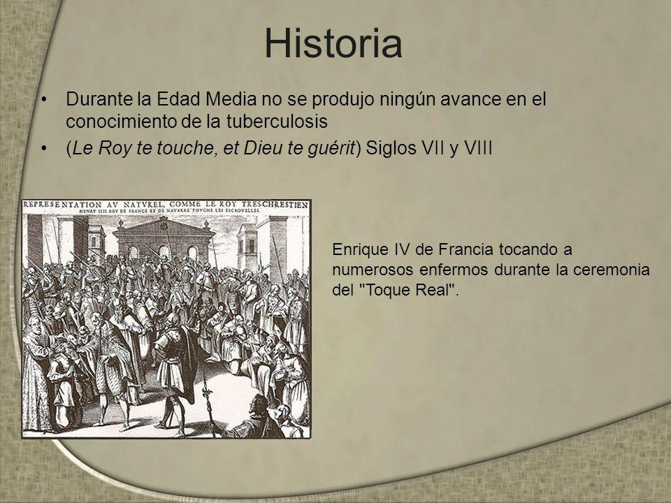 HistoriaDurante la Edad Media no se produjo ningún avance en el conocimiento de la tuberculosis.
