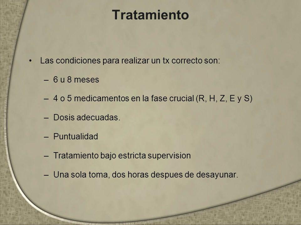 Tratamiento Las condiciones para realizar un tx correcto son: