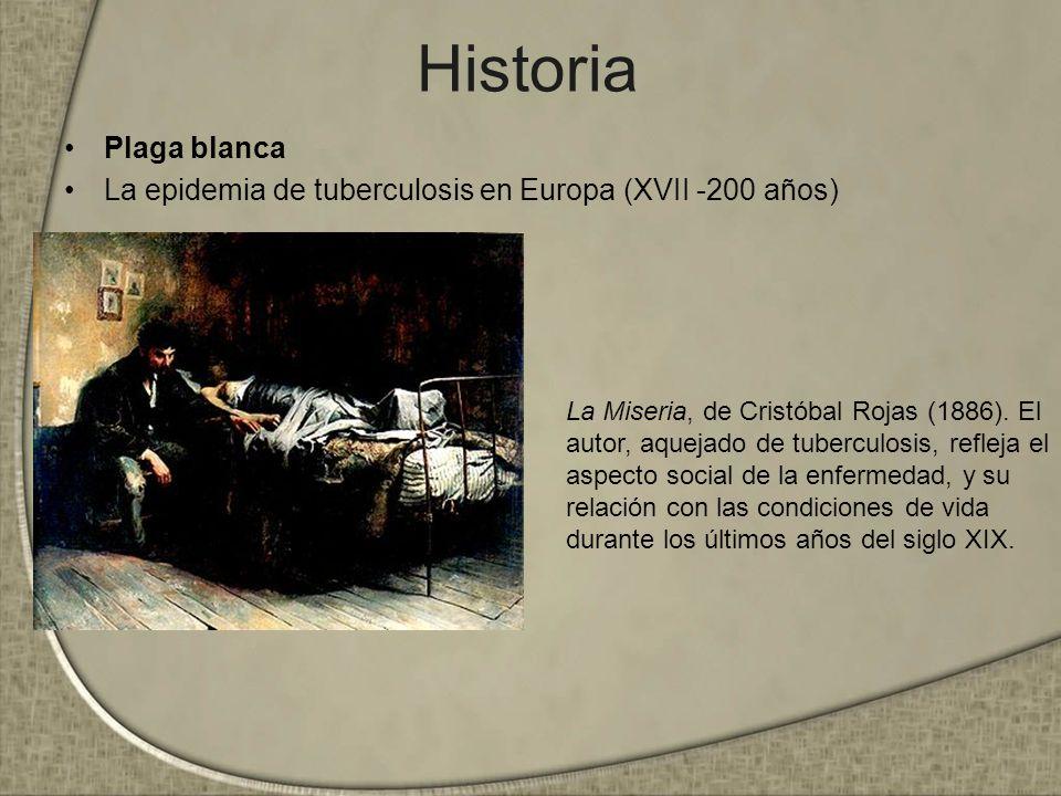 Historia Plaga blanca. La epidemia de tuberculosis en Europa (XVII -200 años)