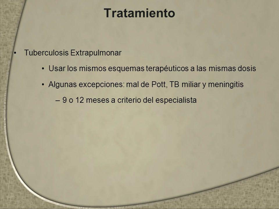 Tratamiento Tuberculosis Extrapulmonar
