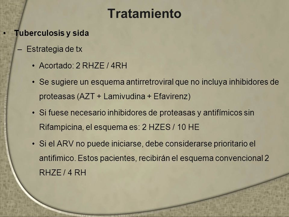 Tratamiento Tuberculosis y sida Estrategia de tx
