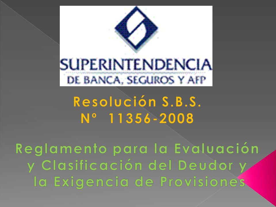 Reglamento para la Evaluación y Clasificación del Deudor y